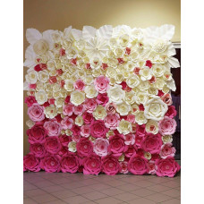 Ombre rózsaszín 2,5m fotófal