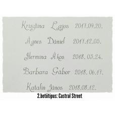 GRAVÍROZÁS 2. Castral Street betűtípus