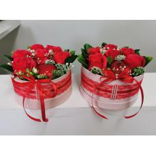 Mini papírdobozos virágbox