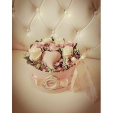 Kalapdobozos virágbox 25cm