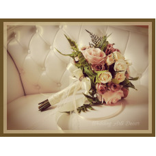 2. Púder szerelem menyasszonyi csokor