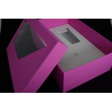 16. Pink színű ablakos díszdoboz
