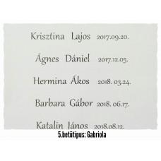 GRAVÍROZÁS 5. Gabriola betűtípus