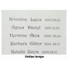 GRAVÍROZÁS 6. Harrinton betűtípus