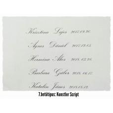 GRAVÍROZÁS 7. Kunstler Script  betűtípus