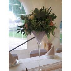 50 CM MARTINIS VÁZA Greenery virágokkal