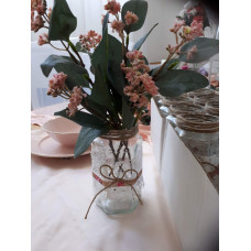 Duncosüveg virágtartó dekor virággal