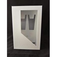 1. Fehér szatén ablakos díszdoboz