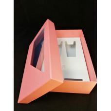 11. Rózsaszín szatén díszdoboz