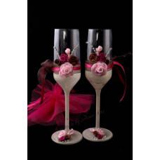 Pink-csoki kombi pezsgőspohár