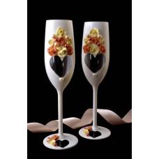 Krém-barack pezsgőspohár