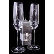 Gravírozott esküvői pezsgőspohár