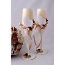 Capuccino esküvői poharak