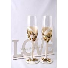 Virágos fuvallat esküvői poharak