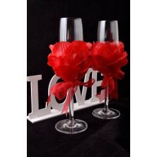 Rózsaszirmos esküvői pohár