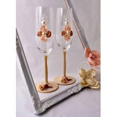 Csipke esküvői poharak
