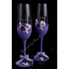 Levendula színvilágú pezsgőspohár