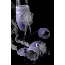 Ezüst világosibolya pezsgőspohár