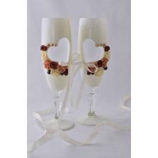 Natúr elegancia pezsgős pohár